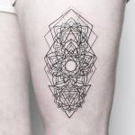Linework mandala tattoo by Rach Ainsworth