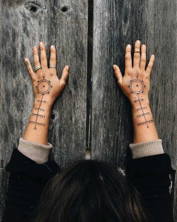 Lithuanian stitch patterns tattoos