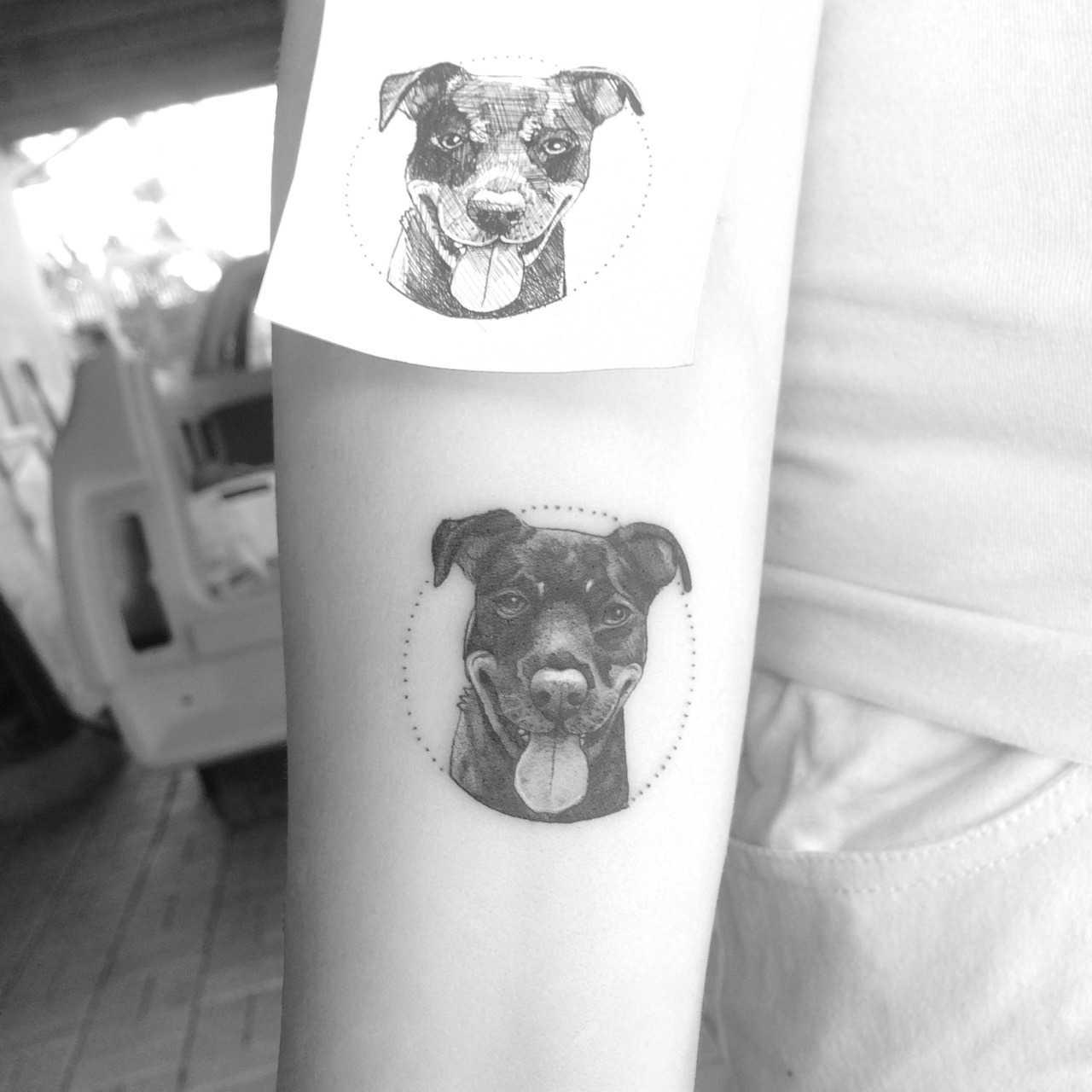 Little puppy tattoo