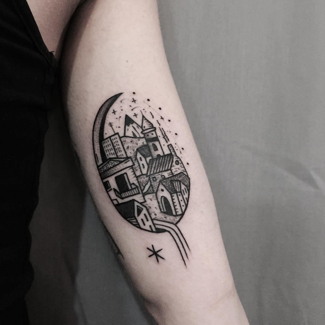 Lovely city tattoo
