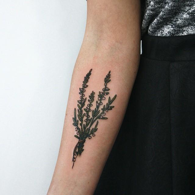 Lovely wildflower bundle tattoo