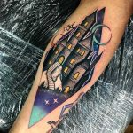 Magic castle tattoo by Andrew Marsh