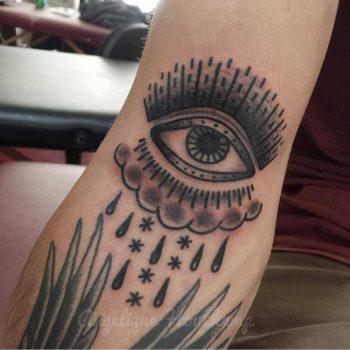 Magic eye tattoo by Angelique Houtkamp