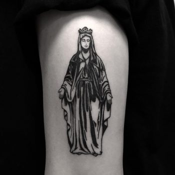 Mary tattoo done at BK Ink Studio