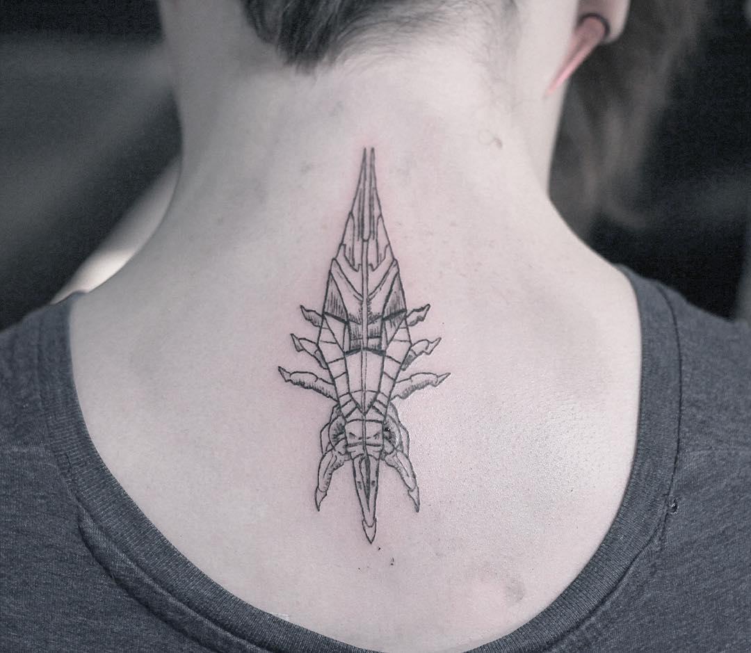 Mass effect tattoo by Kyle Kyo Koko