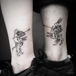 Matching couple tattoo by Yi.postyism
