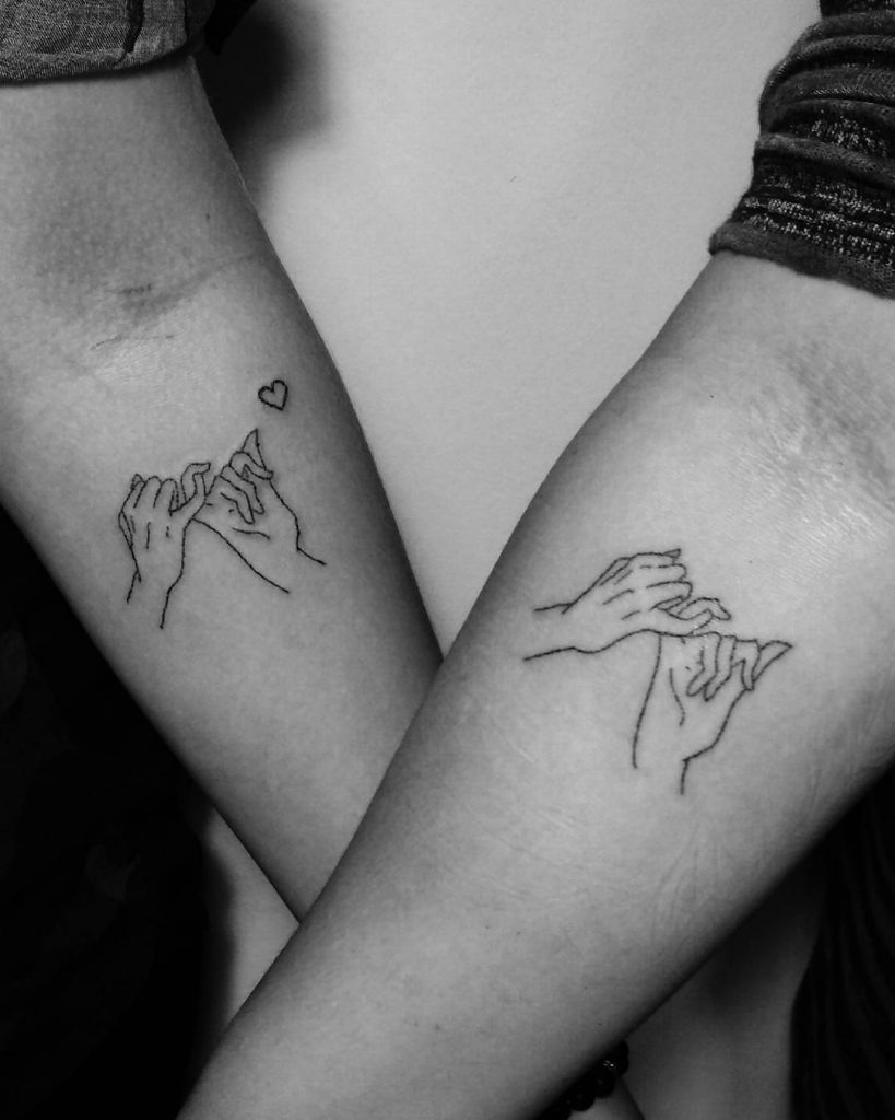 Matching pinky promises by Wiki Mouse Tattoo