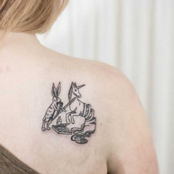 Middle Ages animals tattoo by Dogma Noir