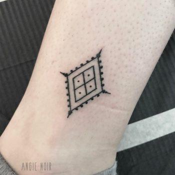 Minimalist pattern tattoo by Angie Noir