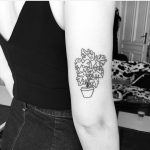 Monstera in a pot by Daisy Does Tattoos