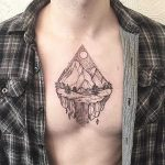 Mountains scenery tattoo by Johno Tattooer