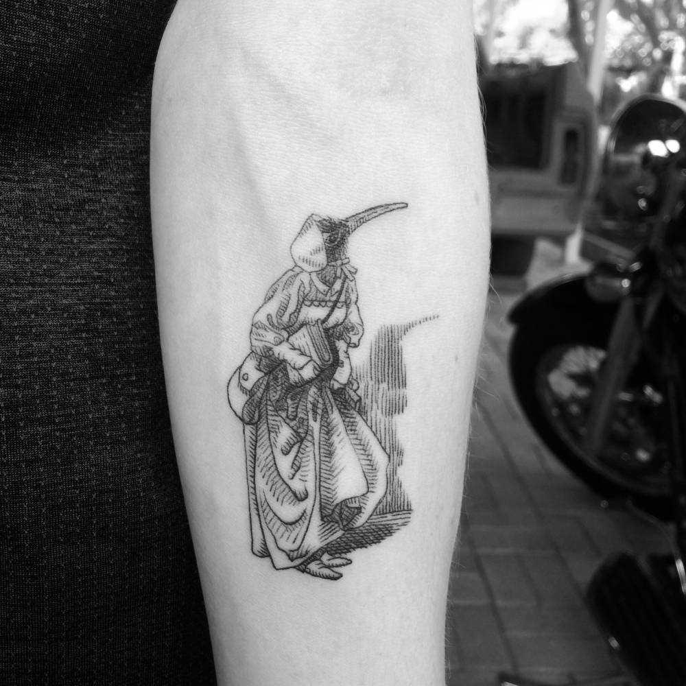 Plague doctor tattoo by Alexandyr Valentine