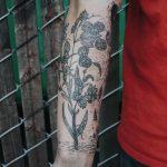 Plant tattoo by Pony Reinhardt