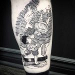 Ponyo tattoo by Kyle Ink By Koko