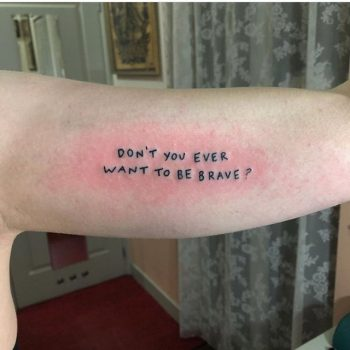 Quote tattoo by European Son 420