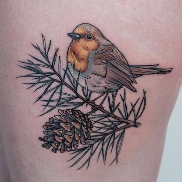 Robin tattoo by Roald Vd Broek