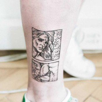 Saint Sebastian tattoo by Dogma Noir