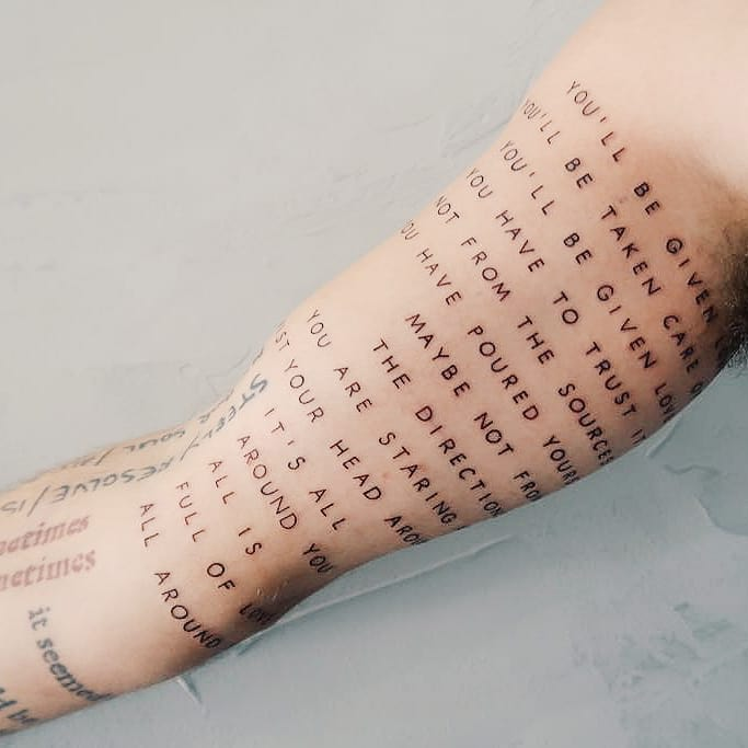 Script for days by tattooist Cholo