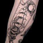 Ship in a bottle by Amor Tattoos