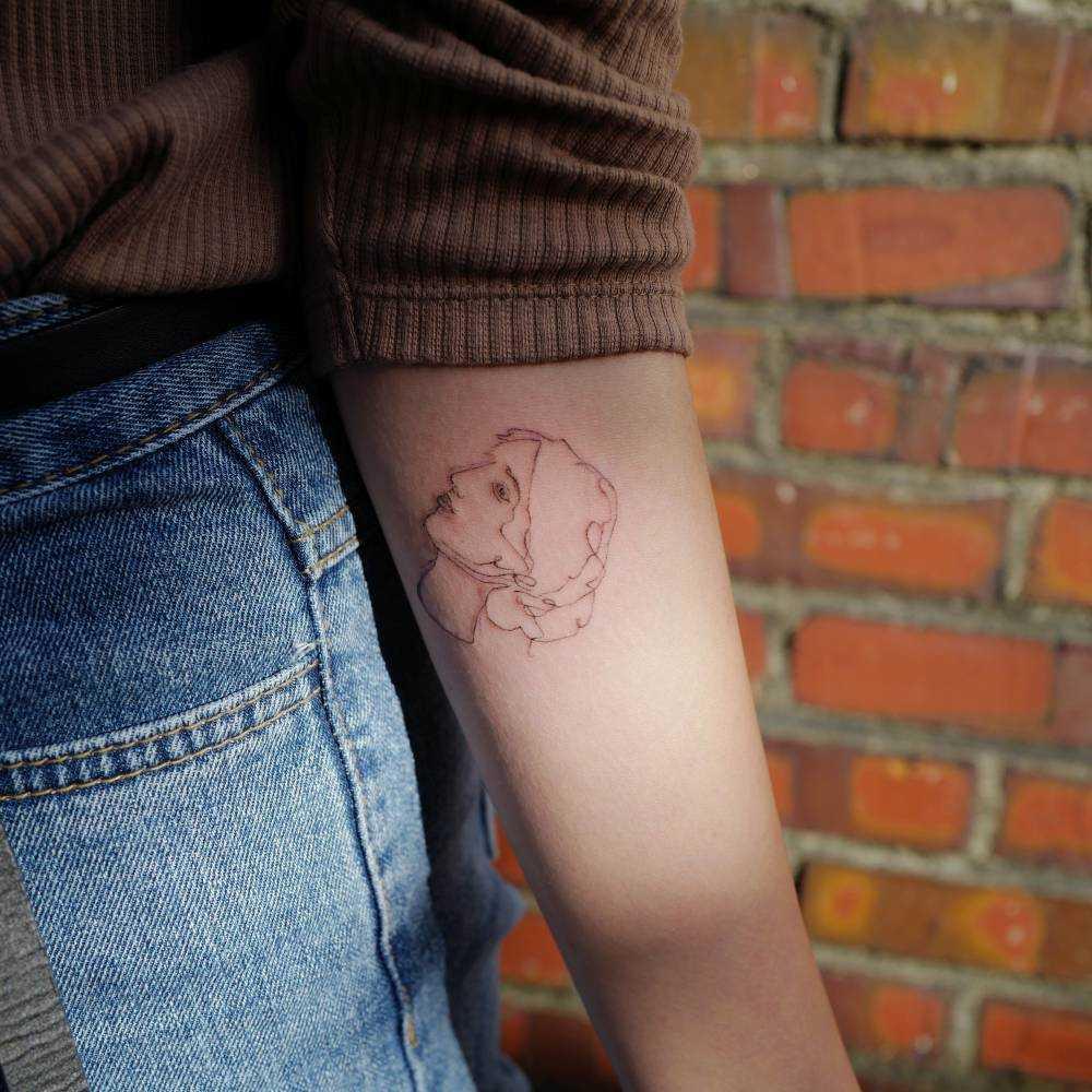 Sketchy woman head tattoo