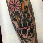 Skull pot tattoo by Jeroen Van Dijk
