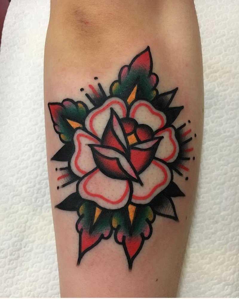 Solid flower tattoo by Jeroen Van Dijk