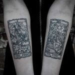 Tarot card tattoos