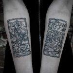 Tarot card tattoos