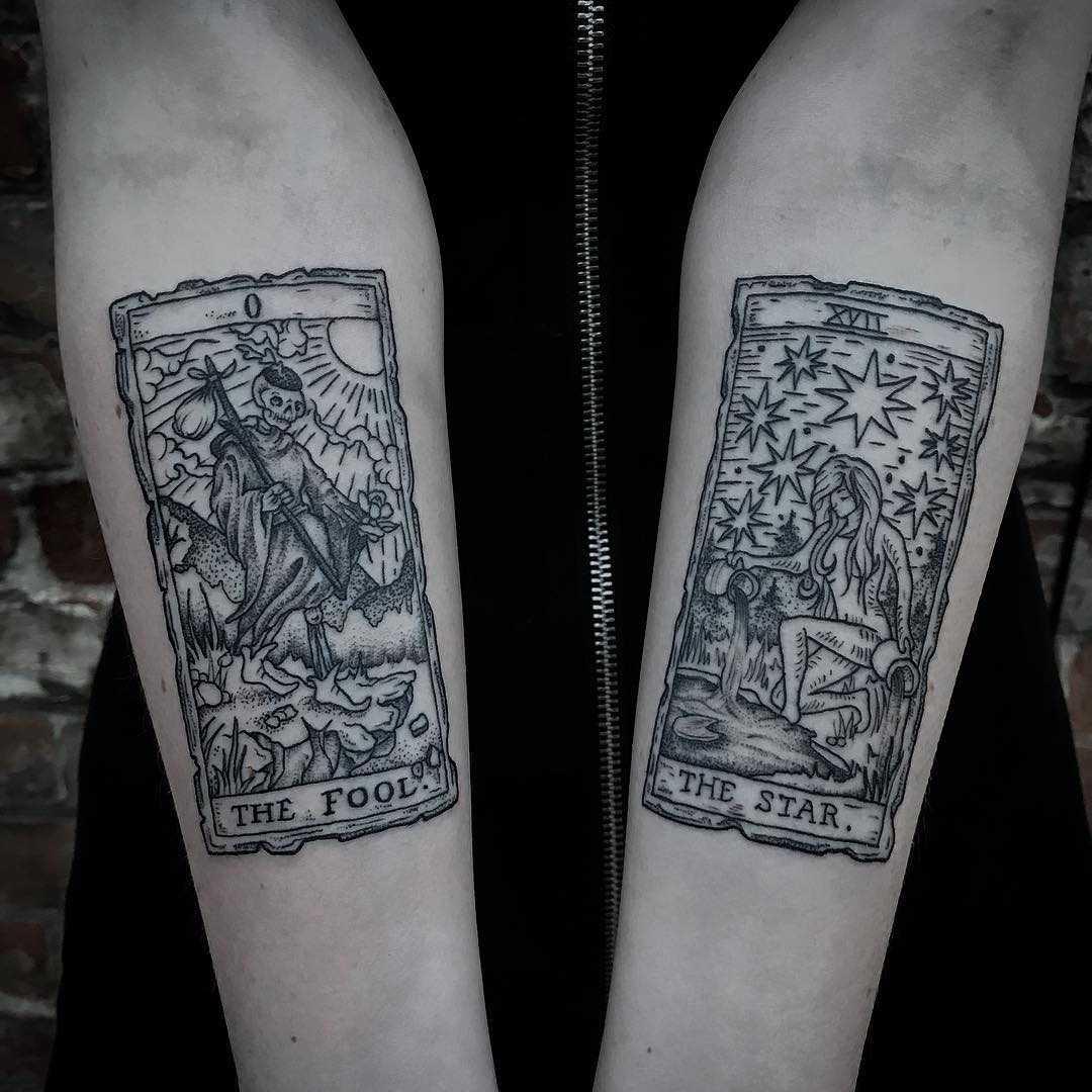 tarot card tattoos  tattoogrid