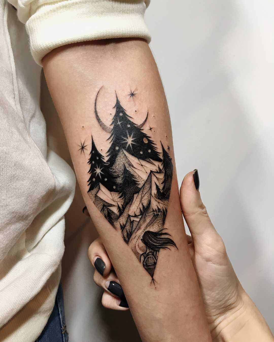 Tattoo for an explorer by Sasha Kiseleva