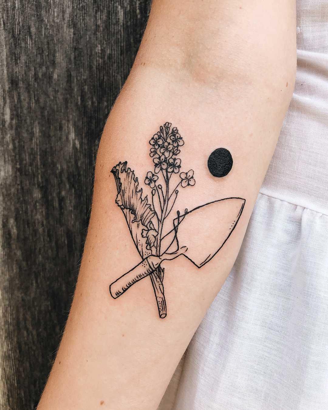 Tattoo for gardening maniac