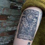 The moon Tarot card tattoo