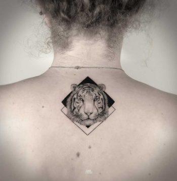 Tiger tattoo by Mark Ostein