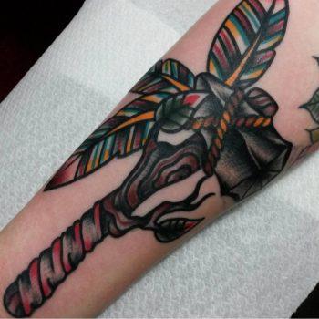 Tomahawk tattoo by Jeroen Van Dijk