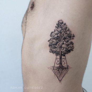Tree tattoo by Bryan Gutierrez
