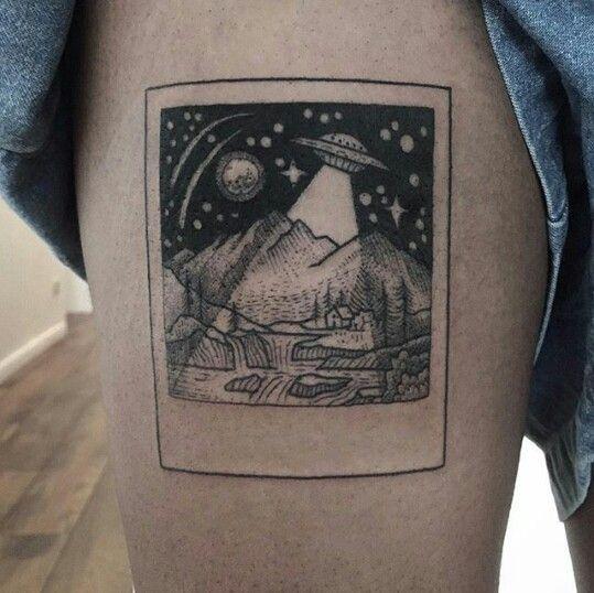 UFO picture tattoo