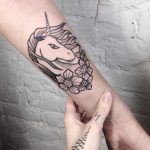 Unicorn tattoo by Slavena Vena