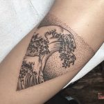 Wave tattoo by Rachel Hauer