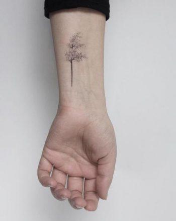 Windy tree tattoo