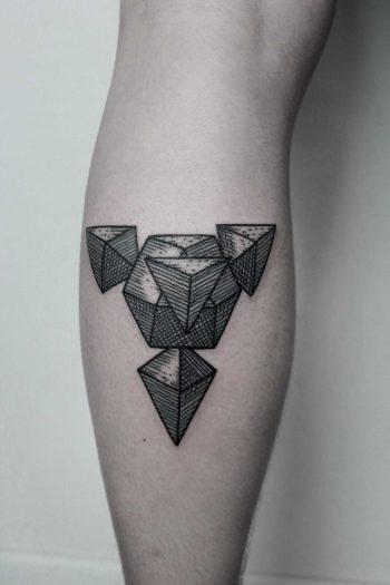 3D geometry tattoo by Andrei Svetov