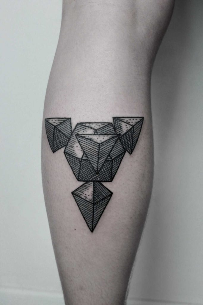 3D geometry tattoo by Andrei Svetov