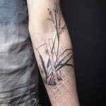 Abstract plant tattoo by Tedd Hucks