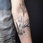 Abstract plant tattoo by Tedd Hucks