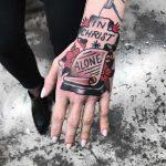 Alone in Christ tattoo by Kathryn Tayl