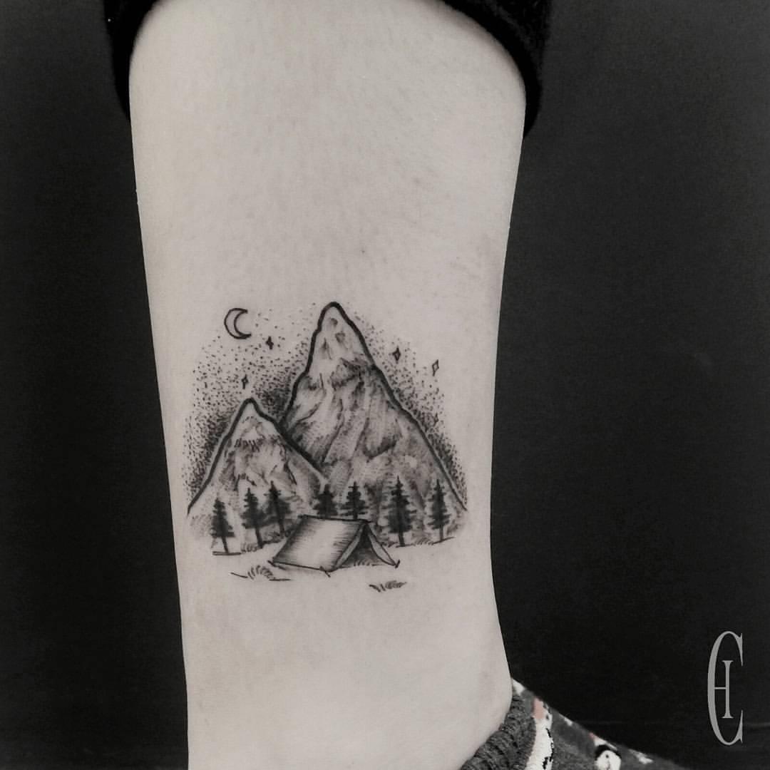 Arcane mountains tattoo