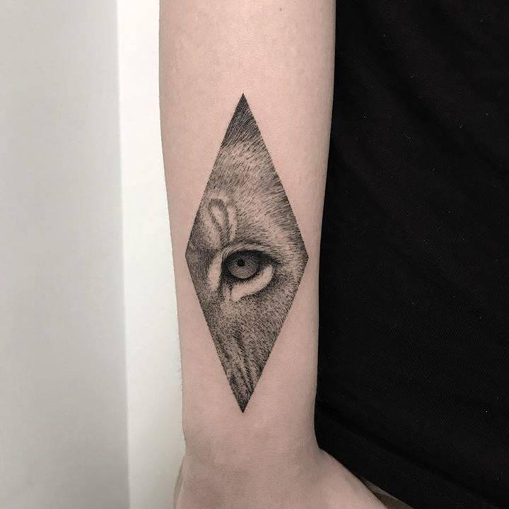 Beautiful eye tattoo by Michele Volpi