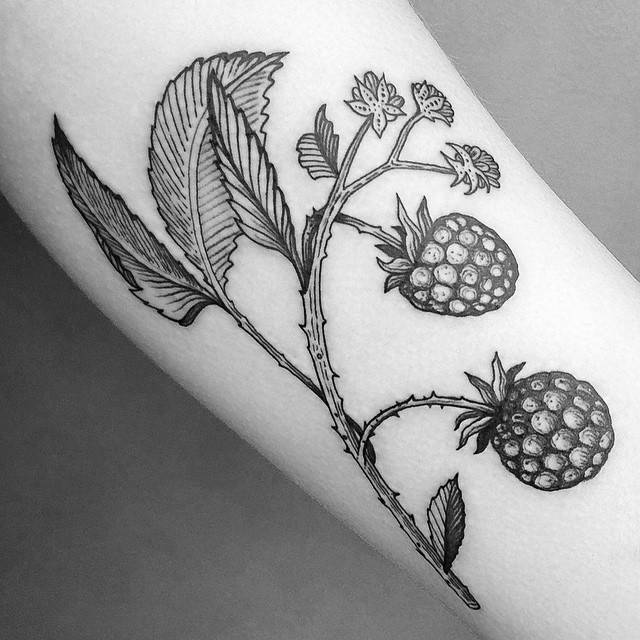 Blackberries tattoo