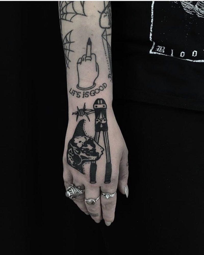 Bolt Cutter Tattoo By Dirt Merchant Tattoogrid Net