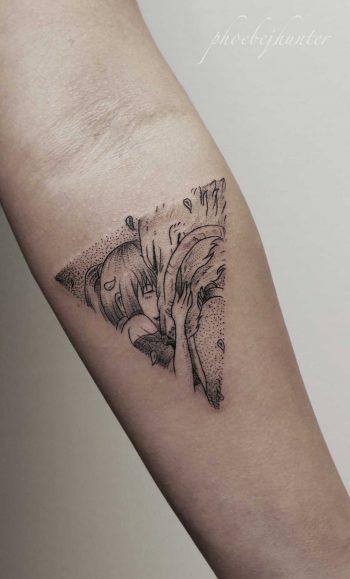 Chihiro and haku Spirited Away tattoo