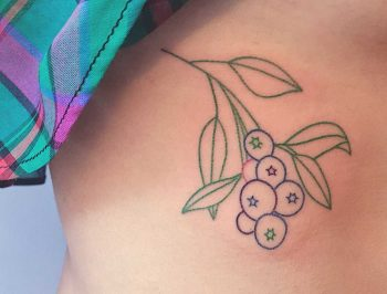 Colorful berries tattoo